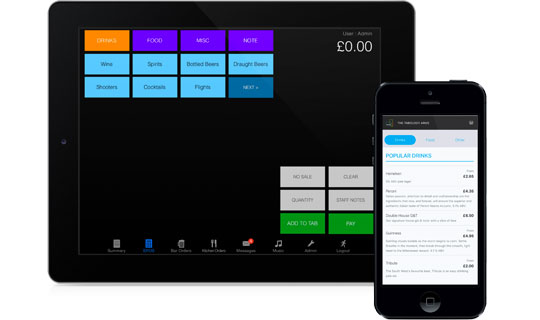 OrderTab is fully integrated with BarTab EPOS